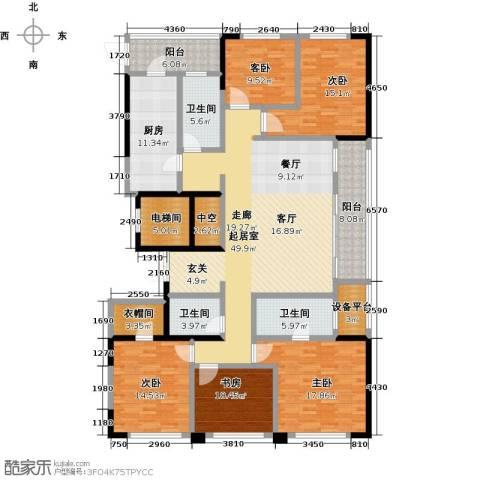 荣安心居5室0厅3卫1厨250.00㎡户型图