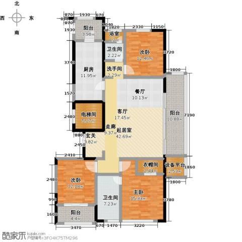 荣安心居3室0厅2卫1厨196.00㎡户型图