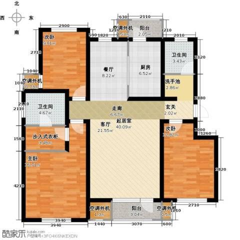 首创福特纳湾3室0厅2卫1厨130.00㎡户型图