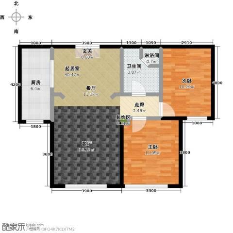 恒昌卢浮公馆2室0厅1卫1厨180.00㎡户型图