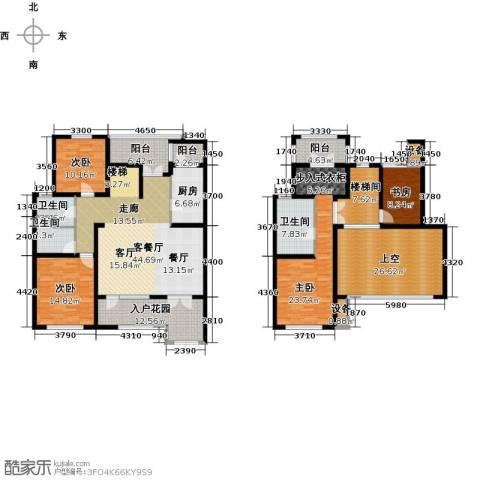 东丽1号4室1厅3卫1厨185.81㎡户型图