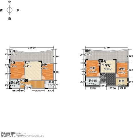 保利・半岛1号4室2厅2卫1厨142.88㎡户型图