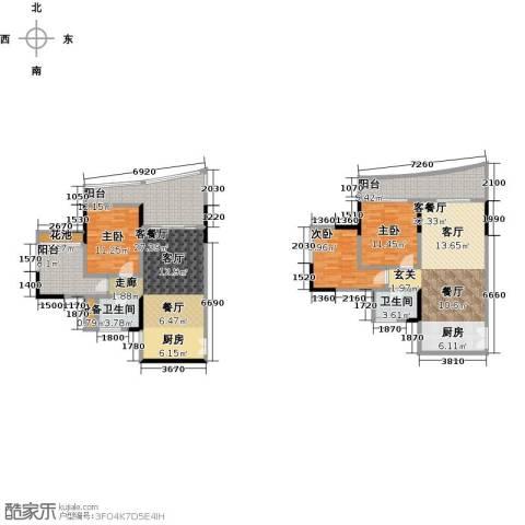 保利・半岛1号3室2厅2卫0厨131.40㎡户型图