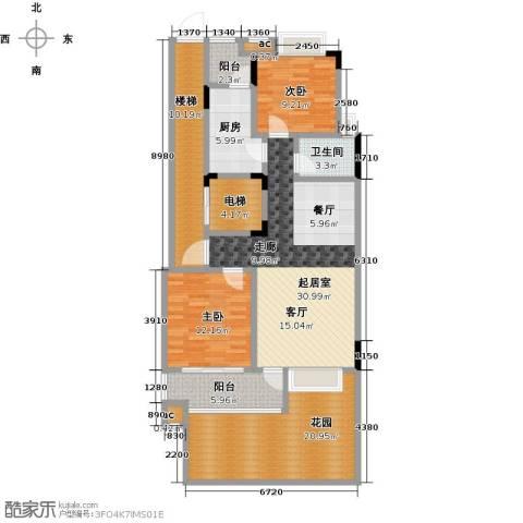 君山公馆2室0厅1卫1厨106.01㎡户型图