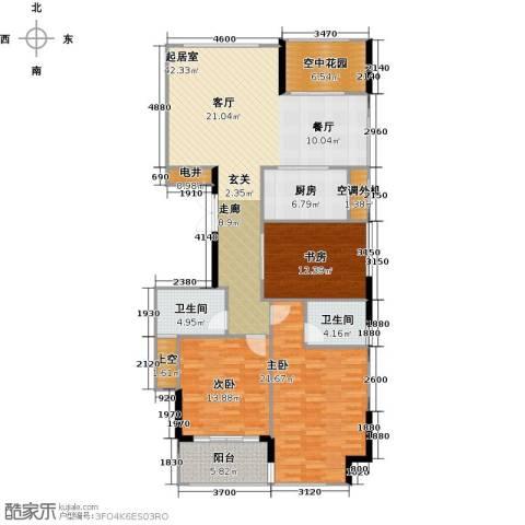 苏纶里3室0厅2卫1厨134.00㎡户型图