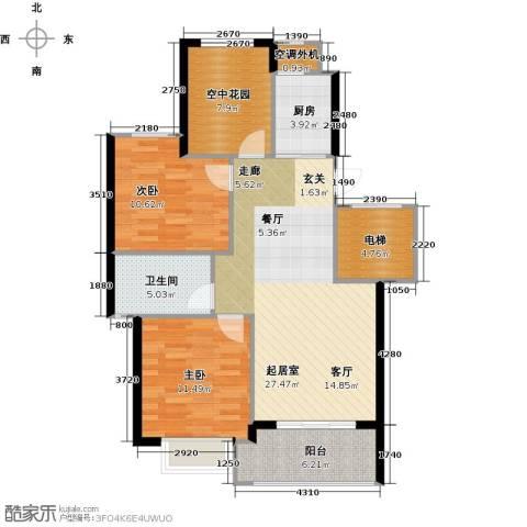 苏纶里2室0厅1卫1厨87.00㎡户型图