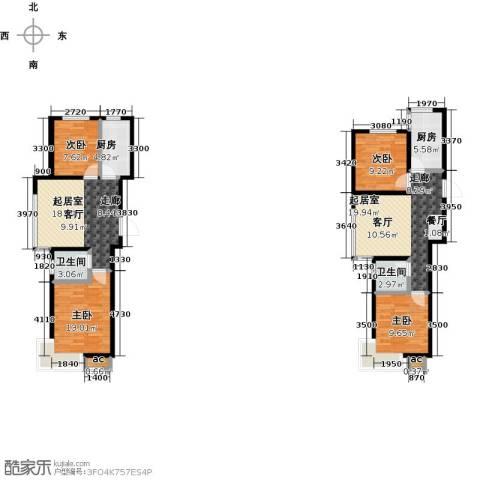 景城时代4室0厅2卫2厨95.22㎡户型图