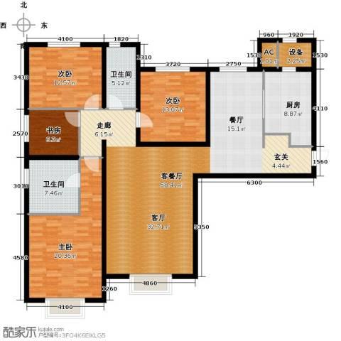 天津大都会4室1厅2卫1厨180.00㎡户型图