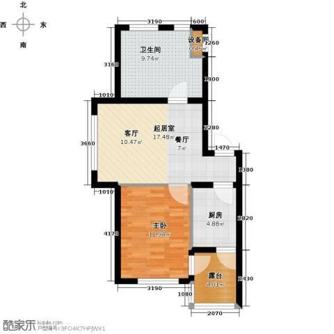 中房东汤一品1室0厅1卫1厨56.00㎡户型图