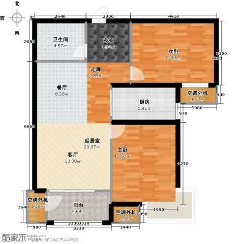 金屋秦皇半岛2室0厅1卫1厨95.00㎡户型图