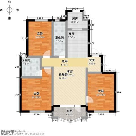 半岛印象3室0厅2卫1厨130.00㎡户型图