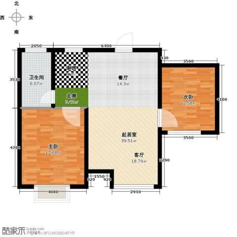 玩美天地2室0厅1卫0厨84.00㎡户型图