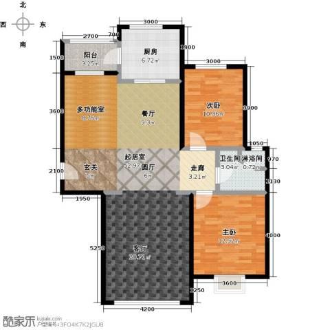 恒昌卢浮公馆2室0厅1卫1厨123.00㎡户型图