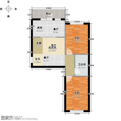 万锦民悦2室1厅1卫0厨70.00㎡户型图