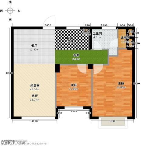 玩美天地2室0厅1卫0厨90.00㎡户型图