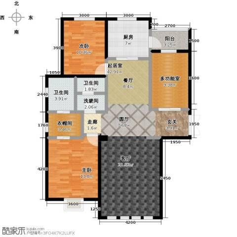 恒昌卢浮公馆2室0厅2卫1厨183.00㎡户型图