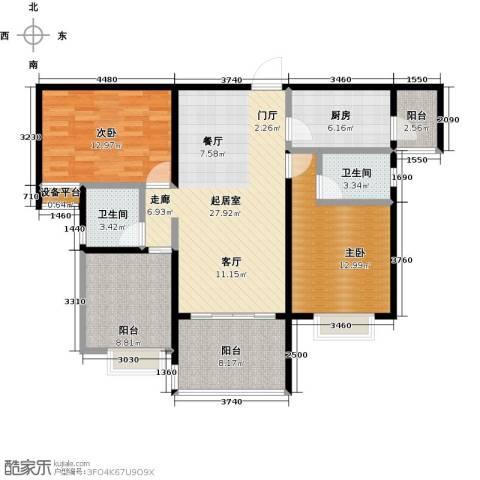 合景领峰2室0厅2卫1厨99.00㎡户型图