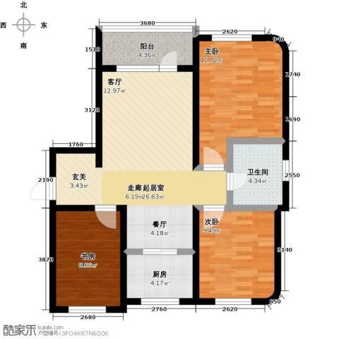 半岛印象3室0厅1卫1厨103.00㎡户型图