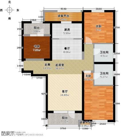 华润海中国3室0厅2卫1厨138.00㎡户型图