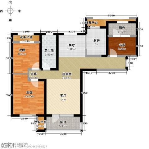 华润海中国3室0厅1卫1厨117.00㎡户型图