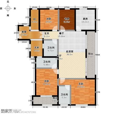 前程藏珑4室0厅3卫1厨167.00㎡户型图