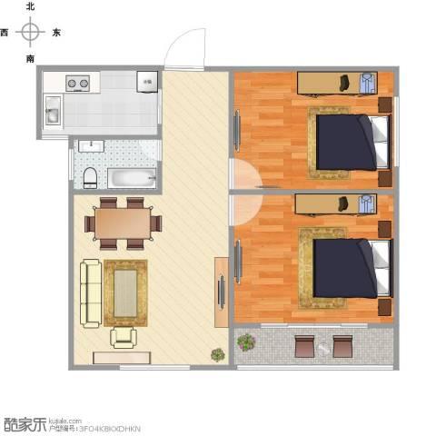 绿地世纪城2室1厅1卫1厨79.00㎡户型图