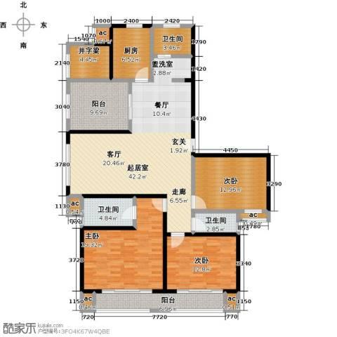 花好月圆3室0厅3卫1厨151.00㎡户型图