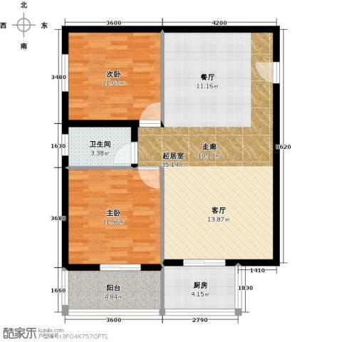 博大尚居2室0厅1卫1厨80.00㎡户型图