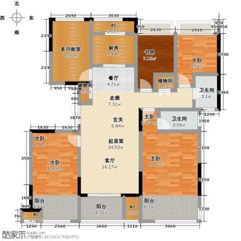 荣华世家4室0厅2卫1厨143.00㎡户型图