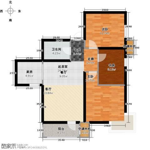 欧铂城3室0厅1卫1厨112.00㎡户型图