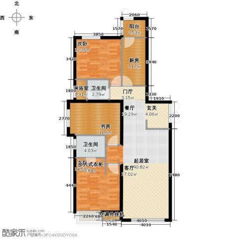 天津富力桃园3室0厅2卫1厨138.00㎡户型图
