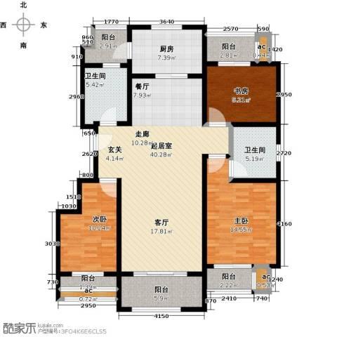 梧桐公馆3室0厅2卫1厨130.00㎡户型图