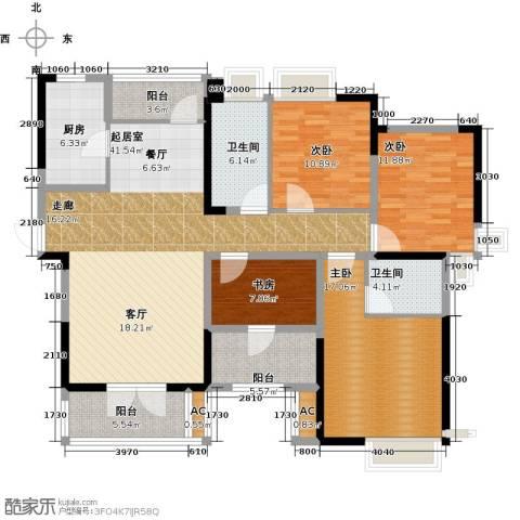 绿地中央广场4室0厅2卫1厨138.00㎡户型图