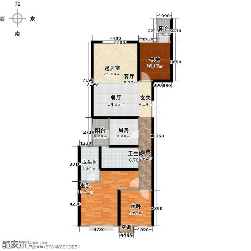晓港名城2期128.00㎡N2-01户型3室2厅2卫