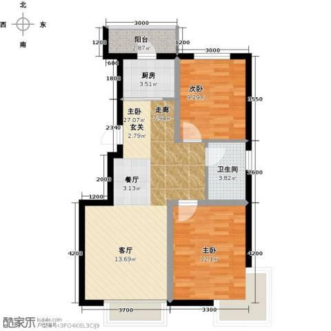 凯荣禧乐都3室0厅1卫1厨85.00㎡户型图