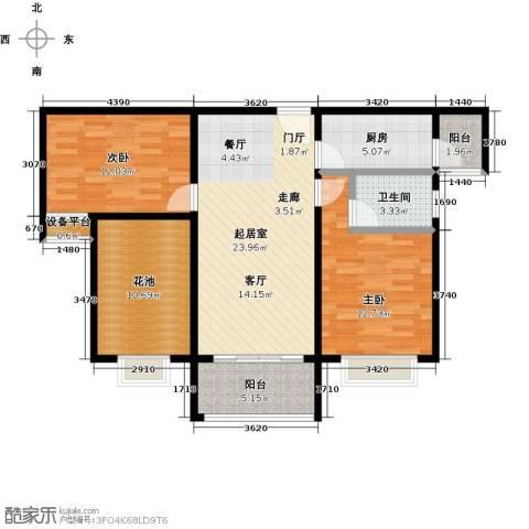 合景领峰2室0厅1卫1厨86.00㎡户型图