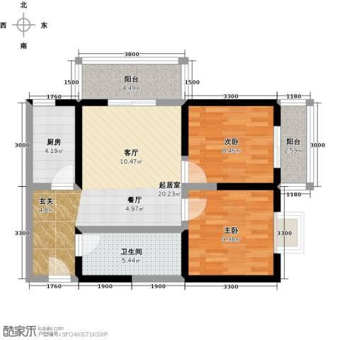 格兰逸境2室0厅1卫1厨81.00㎡户型图