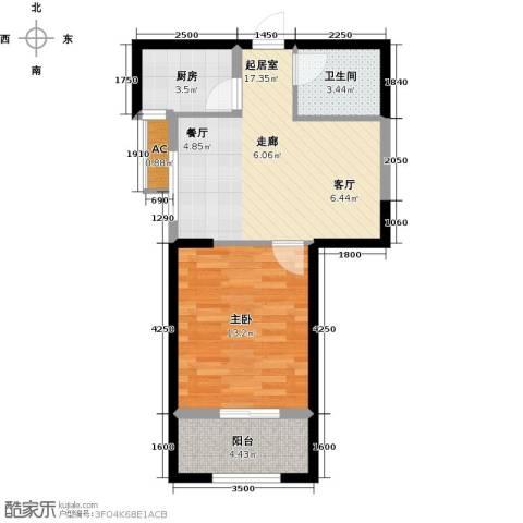 罗马西西里1室0厅1卫1厨60.00㎡户型图