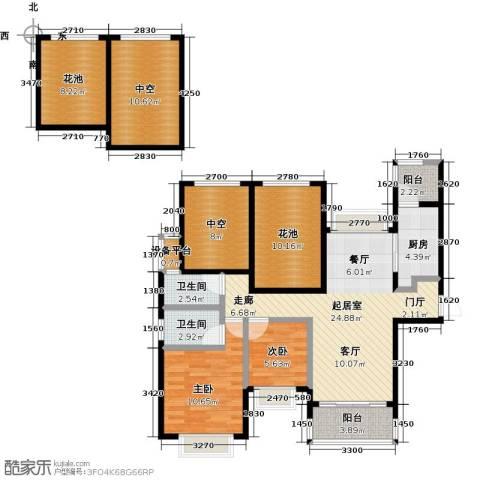 合景领峰2室0厅2卫1厨110.00㎡户型图