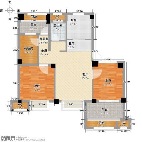 诚盛御庭2室0厅1卫1厨83.36㎡户型图
