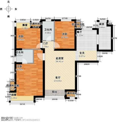 中海・御湖翰苑3室0厅2卫1厨125.00㎡户型图