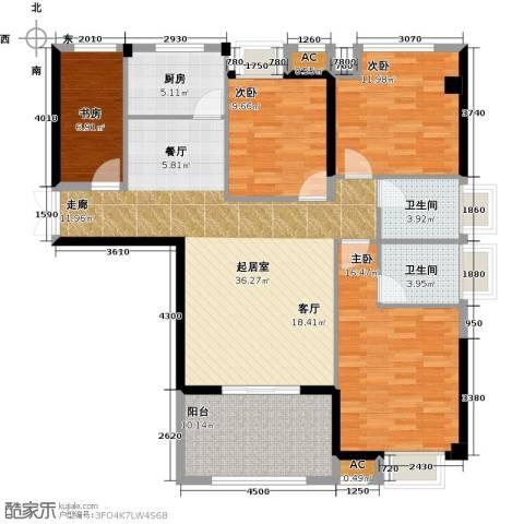 诚盛御庭4室0厅2卫1厨117.00㎡户型图