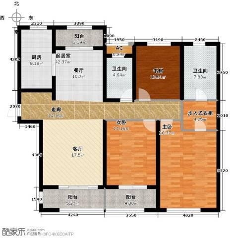 万科金域缇香3室0厅2卫1厨143.00㎡户型图