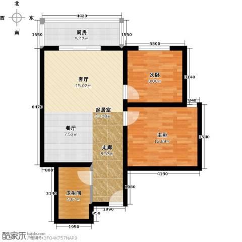 博大尚居2室0厅1卫1厨73.00㎡户型图