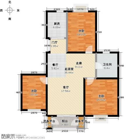 金海国际花园3室0厅1卫1厨103.00㎡户型图