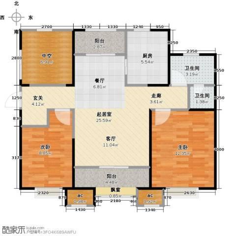 融创中央学府2室0厅2卫1厨98.00㎡户型图
