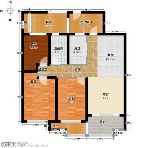 万科金域缇香3室0厅1卫1厨108.00㎡户型图