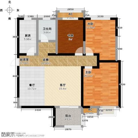 太奥广场3室0厅1卫1厨100.00㎡户型图