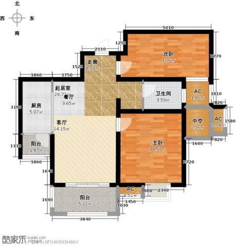 嘉盛维纳阳光2室0厅1卫1厨80.00㎡户型图