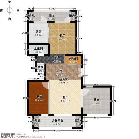 永定河孔雀城铂宫1室0厅1卫1厨148.00㎡户型图